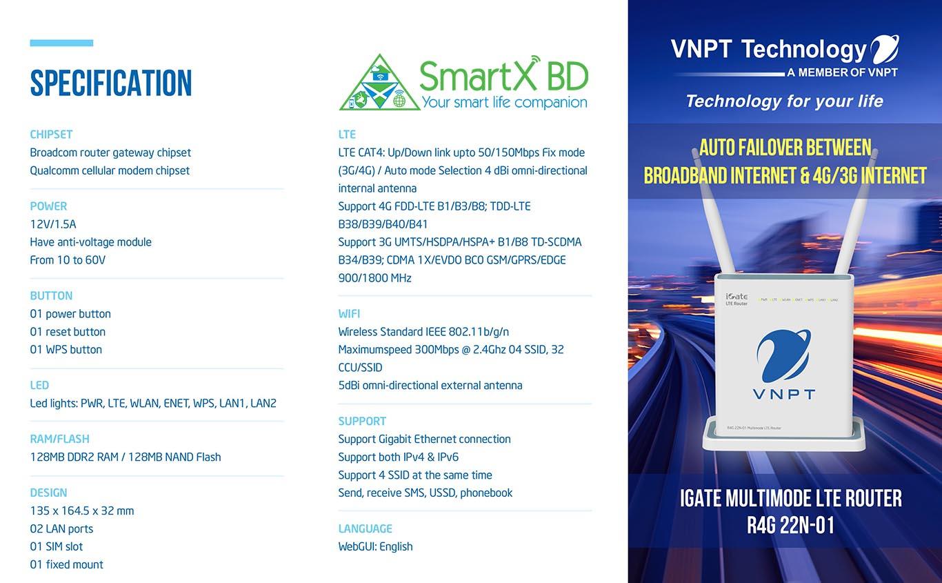 VNPT LTE Router - SmartX BD