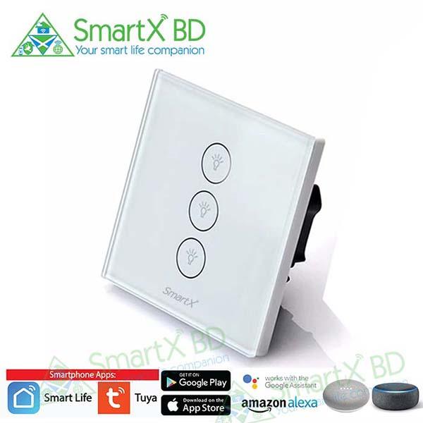 SmartX 3 Gang WiFi Light Switch