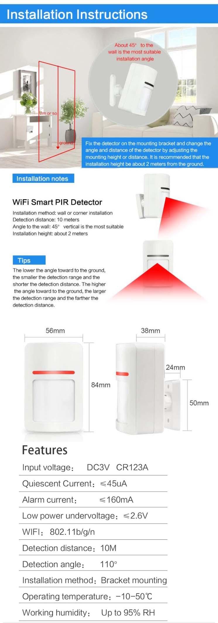 SmartX WiFi PIR Motion Sensor