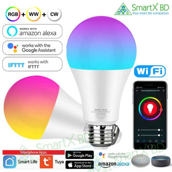 SmartX WiFi RGB Smart LED Bulb